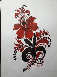 Фотографии Русская роспись. Онлайн-школа. Gold Embroidery, Embroidery Patterns, Tribal Tattoos, Tatoos, Fabric Painting, Traditional Art, Textile Design, Tatting, Textiles
