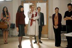 Still of Uma Thurman, Anjelica Huston, Debra Messing and Jack Davenport in Smash