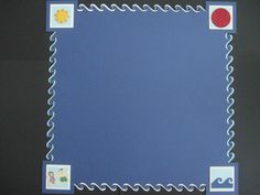 Wave Border Cartridge for Creative Memories Border System, skipping the 1st & last punch on each side.