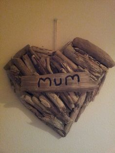 Driftwood present for my mum Birthday Presents For Mum, Mum Birthday, Mothers Day Crafts, Driftwood, Creative Ideas, Projects To Try, Crafting, Xmas, Outdoors