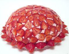 Erdbeerkuppeltorte mit Bildanleitung, Rezept, lecker und einfach