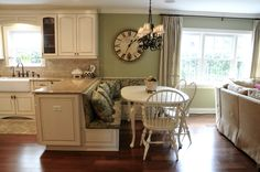 White Corner Booth Style Kitchen Table