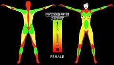 Female tattoo pain chart