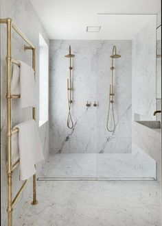 Modern Bathroom Designs, simple Modern Bathrooms, Marble Brass Bathrooms | jaimekrzos