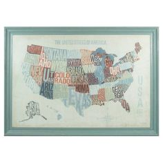 Showcasing a United States map motif and typographic details, this eye-catching wood wall decor brings a touch of classic charm to your living room or den.