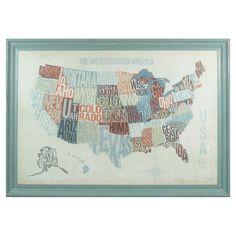 States Framed Wall Decor