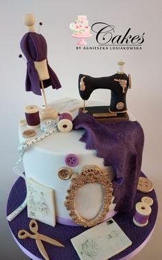 Girly Cakes, Themed Cakes, Fondant, Cake Recipes, Birthday Cake, Template, Pasta, Sewing, Decoration