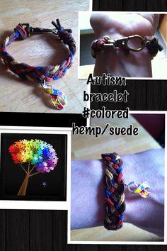 Autism bracelet #suede/braided/colored/hemp