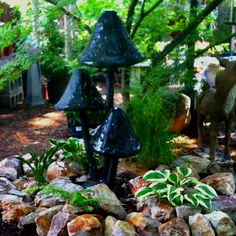 Giant mushroom fountain in my nursery.