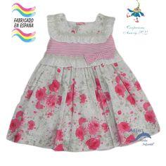 Vestido de bebe PIZPIRETA estampado flores coordinado