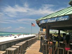 The Sand Bar at Silver Shells Resort in Destin. Open seasonally, the Sand Bar serves sandwiches and snacks as well as drinks.