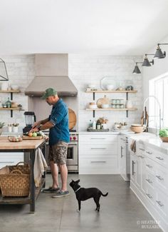 Love the concrete floors in the kitchen!! More