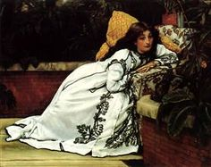James Tissot - A Girl in an Armchair