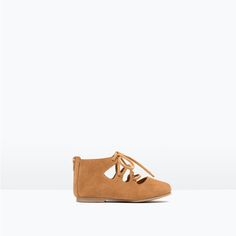 ZARA - KIDS - LEATHER BALLERINAS WITH LACES