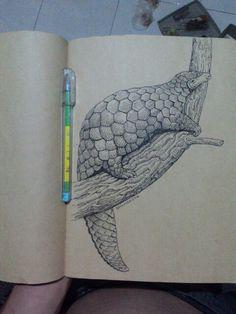 Trenggiling Drawing ballpoint pen ink on paper