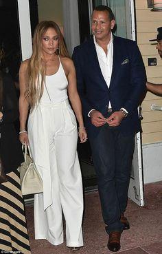 Jennifer Lopez wearing Milly Trapunto Trousers and Hermes Birkin Crocodile Bag