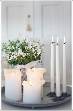 display #white #candles in this way