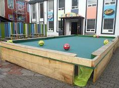 Yard Billiards Pool Table Made With Soccer Balls Sunken