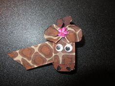 Hey, I found this really awesome Etsy listing at https://www.etsy.com/listing/220248169/giraffe-ribbon-sculpture-hair-clip-zoo