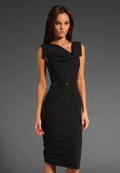 Classic Jackie O Dress in Black / Black Halo