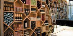 Amaison Gourmet Shop in Amsterdam, nice shelves Shop Interior Design, Retail Design, Store Design, Honey Store, Amsterdam Shopping, Container Shop, Concrete Design, Shelf Design, Shop Interiors