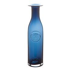 Dartington Crystal Flower Bottle, Dahlia Ink blue   ACHICA