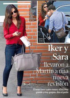 look con blusa roja -Sara Carbonero