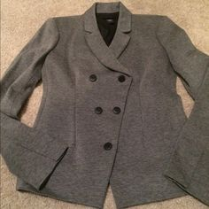 Double Breasted Grey Blazer This is a double breasted grey blazer by Body by Victoria. It is brand new, never worn blazer. Victoria's Secret Jackets & Coats Blazers