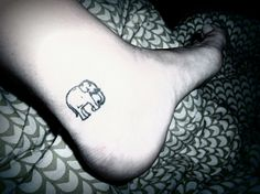 If something bad ever happened to me that no one wanted to mention, I'd get a pink elephant tattoo.