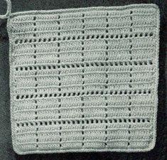 Square Potholder Pattern #9361   Crochet Patterns