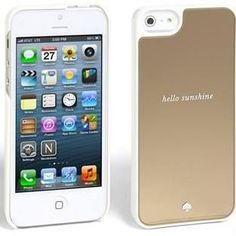 Women's Kate Spade New York 'Hello Sunshine' iPhone 5 & 5s Case - Metallic Gold Mirror