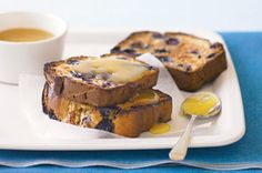 Banana bread is a treat when it's served with a dab of lemon curd, and just heavenly when it's studded with sweet, purple blueberries. ~ recipe Gemma Luongo ~ photography Steve Brown/NewsLifeMedia