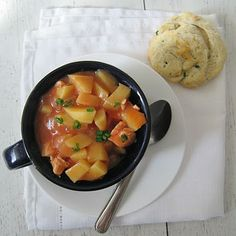 Garden Harvest Chicken Stew - 5 points plus figuring in 8 servings. Looks filling!