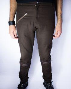 Distopia Collection - Calça/Bermuda de comprimento removível - Moda masculina e sustentável, para homens com estilo alternativo