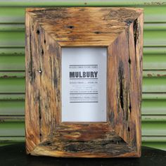 The perfect frame for my Pop's photo. Chunky Recycled Wooden Photo Frame by Mulbury