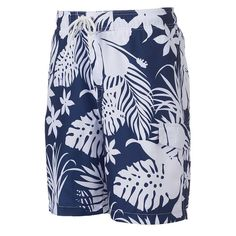 Men's SONOMA Goods for Life™ Floral Microfiber Swim Trunks, Size: