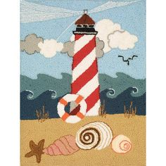 Heritage Rug Hooking Kit, 20 inch x 27 inch, Lighthouse, Multicolor
