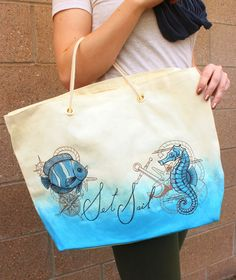 Tutorials | Urban Threads: Easily transform a plain store bought tote into this chic Nautical bag!