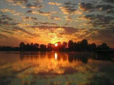 Sunrise at Crooked Lake, Angola IN…Love to hang out here in the summer time w/ our friends! Greg & DeeDee