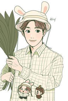 Exo Fan Art, Kim Junmyeon, Suho Exo, Aesthetic Wallpapers, Chibi, Pikachu, Fanart, Anatomy, Cute