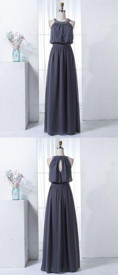 68027f52b51f simple dark grey long bridesmaid dresses