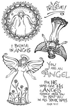 Impression Obsession Clear Stamp - I Believe in Angels