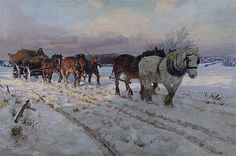 Winter's White Silence by Lucy Kemp-Welch Leamington Spa Art Gallery & Museum Date painted: Oil on canvas, 125 x cm Spa Art, Farm Art, Impressionist Artists, Work Horses, Horse Drawings, Art Uk, Animal Paintings, Horse Paintings, Equine Art