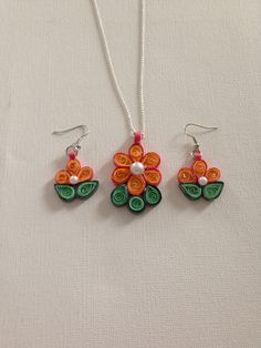 Quilling Jewelry on Etsy♥ $16.00