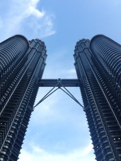 Nothing out of the ordinary...It is just well arranged steels and blue skies. Petronas Tower, Kuala Lumpur