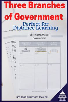Get this amazing distance learning three branches lesson today! Learn about the three branches of government and checks and balances through this interactive bundle. Distance Learning ready handouts as a PDF or editable Google activity! No need to edit or modify!