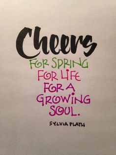 Cheers for spring! https://www.facebook.com/salt.lightcalligraphy  #calligraphy #saltlightcalligraphy #lettering #brushcalligraphy #typography