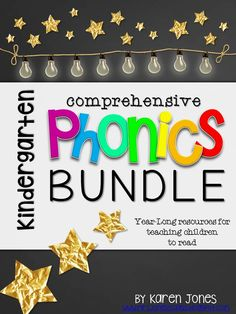Comprehensive Kindergarten PHONICS Bundle! A year-long resource for phonics instruction---everything to teach, reinforce, and assess phonics skills throughout the year. Whole group, small group, centers, independent work, early finishers, morning work, written and performance assessments, and more! $