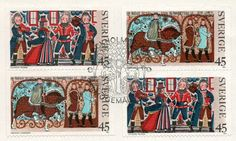 Swedish folk art stamps