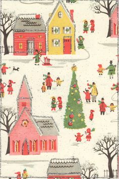 vintage Christmas card - perfection. i want to live in this card